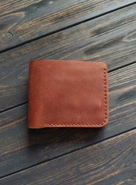 Світло коричневий гаманець primal mini з монетницею і безкоштовним гравіруванням