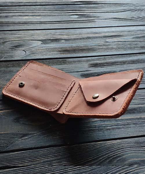 Світло коричневий гаманець primal mini з монетницею і безкоштовним гравіруванням2