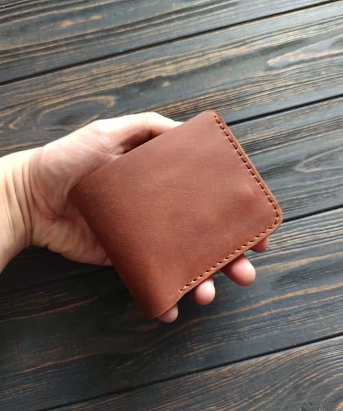 Світло коричневий гаманець primal mini з монетницею і безкоштовним гравіруванням3