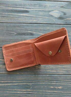 Світло коричневий гаманець primal mini з монетницею і безкоштовним гравіруванням4