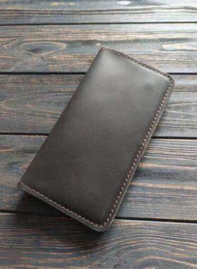 Клатч maxi темно коричневий з індивідуальним гравіруванням