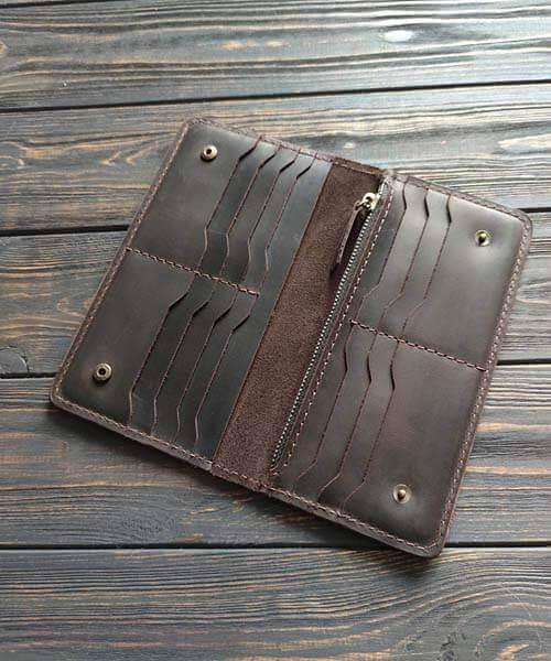 Клатч maxi темно коричневий з індивідуальним гравіруванням2