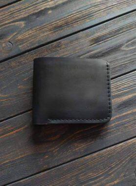 Чорний гаманець з монетницею, модель primal mini, та з безкоштовним гравіруванням