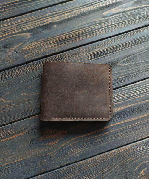Primal mini з монетницею і безкоштовним гравіруванням темно коричневого кольору