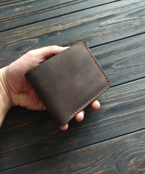 Primal mini з монетницею і безкоштовним гравіруванням темно коричневого кольору3