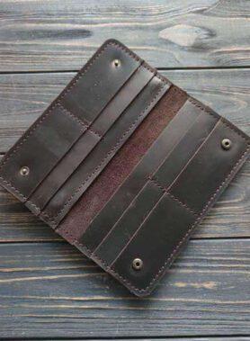 Темно коричневе портмоне classic з індивідуальним гравіруванням по фото, тексту або зображенню2