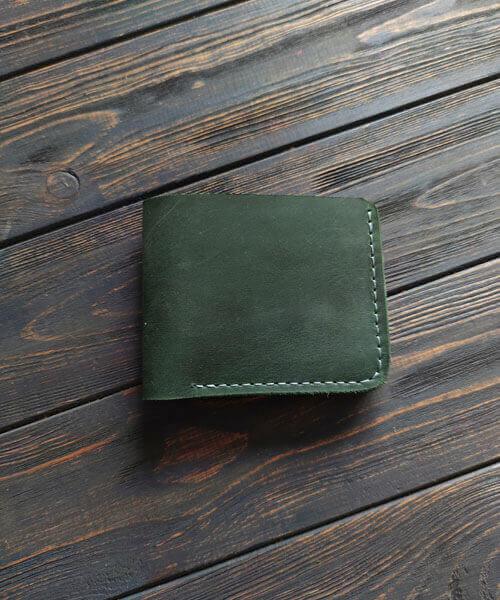 Зелений гаманець primal mini з монетницею і безкоштовним гравіруванням