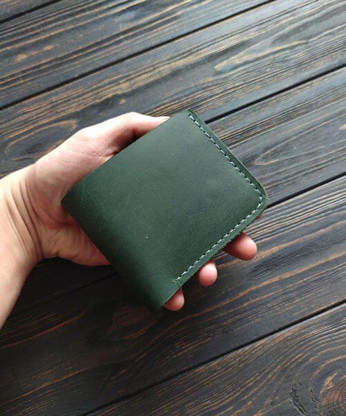 Зелений гаманець primal mini з монетницею і безкоштовним гравіруванням2