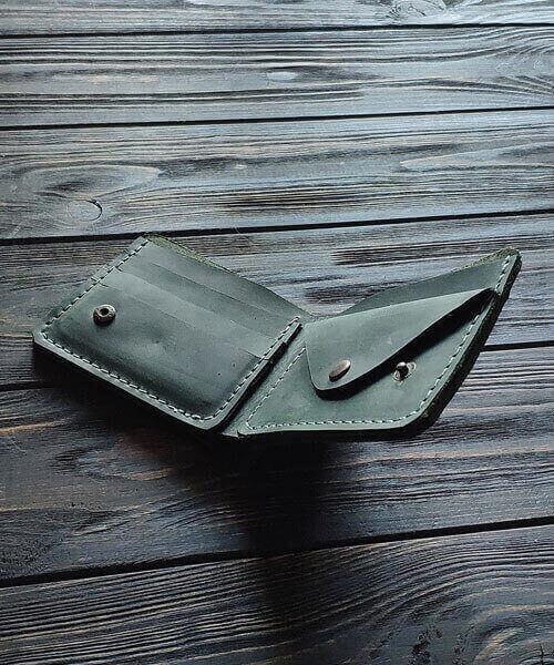 Зелений гаманець primal mini з монетницею і безкоштовним гравіруванням4
